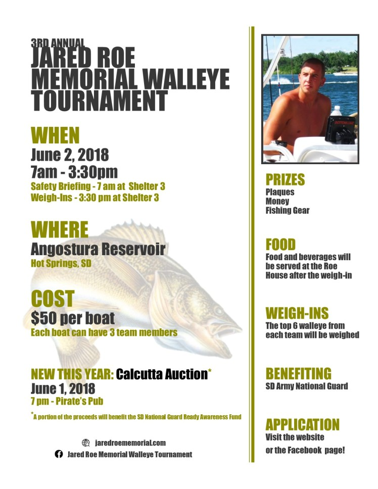 2018 fishing tournament flyer